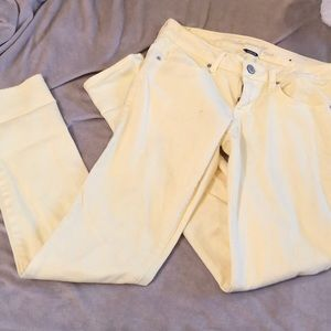 Yellow American Eagle Skinny Jeans